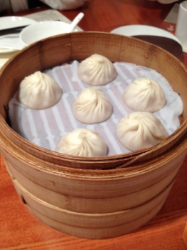 Dumplings. These are from our favourite restaurant Din Tai Fung.