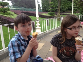 Well deserved (and enjoyed) ice-cream break.