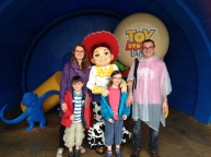 Posting with Jesse (can't come to Disney and not pose with a character!)