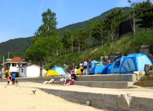 You can even camp right of the edge of the beach - one for next time!