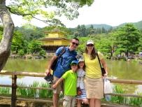 Onto the golden pavilion -Kinkaku-ji.