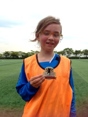 Katrine as team captain got a player of the day award.