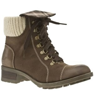 Option 3 - another brown pair, this time with laces and wool!