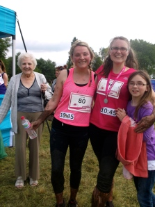 Here is my fellow runner, Lynsay, Katrine and her Great-Gran who came down to visit.