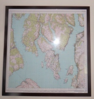 A giant map of Bute. we lived here for a while and loved it.