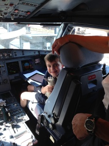 One very happy Gregor in the Captain's seat.