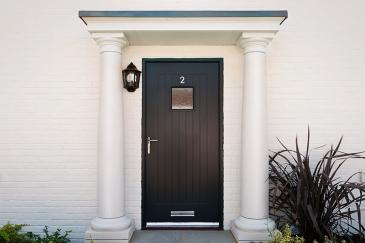 Our front door looking very grand.