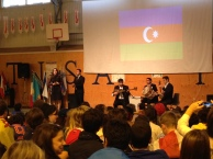 Azeri music performed by some students from the university.