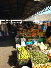 There is a wide range of produce on offer but it is very seasonal.