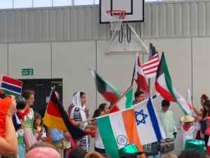The parade of flags.